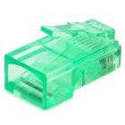 RJ45 8P8C Network Modular Plug Connector - Green (30 Piece Pack)