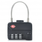 Stylish Security 3-Digit Combination Lock with Chain for Travel Luggage - Random Color