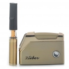 Ziiber Reusable Washable Cigarette Holder with Lighter Set - Gold + Black