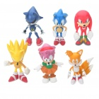 Sonic the Hedgehog Characters PVC Figure Toy (Set of 6)