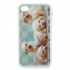 Protective Back Case with 3D Graphic for Iphone 4 - Dog Pack Pattern