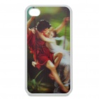 Protective Back Case with 3D Graphic for Iphone 4 - Romantic Lover Pattern
