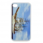 Protective Back Case with 3D Graphic for iPhone 4 - Ship Pattern