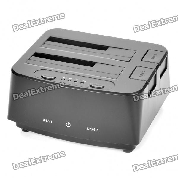 "USB 3.0, двойной-Bay 2.5 ""/ 3.5"" SATA HDD Docking Station - Black"
