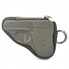 Novelty Creative Pistol Shaped Zippered Key Case Coin Pouch Bag Purse - Dark Khaki