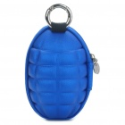 Novelty Creative Grenade Shaped Zippered Key Case Coin Pouch Bag Purse - Dark Blue