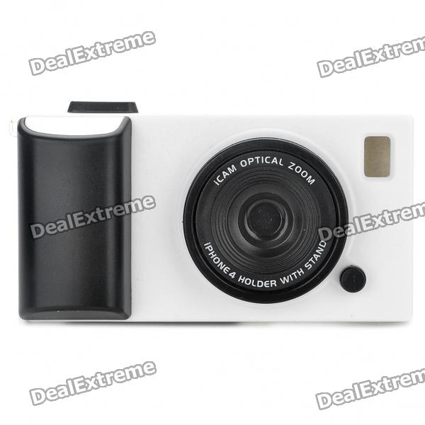 Creative Unique Camera Style Protective Case for Iphone 4 - White + Black от DX.com INT