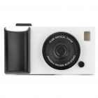 Creative Unique Camera Style Protective Case for Iphone 4 - White + Black