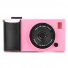 Creative Unique Camera Style Protective Case for iPhone 4 - Pink + Black