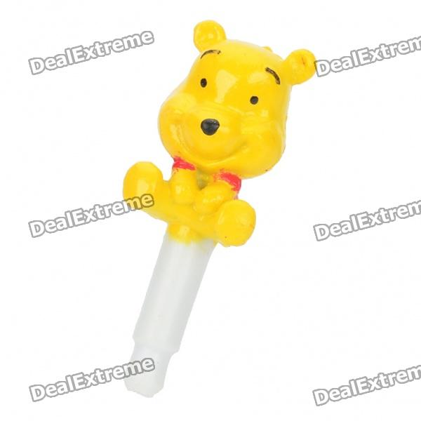 Winnie The Pooh Style 3.5mm Earphone Jack Anti-Dust Kit - Yellow