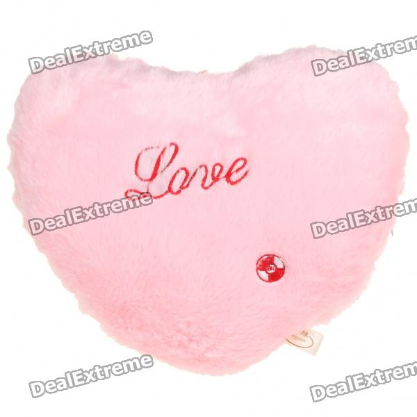 fr p cute love heart shaped colorful led light pillow cushion fantastic  decoration pink xaa