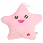 Cute Lucky Star Shaped Colorful LED Light Pillow Cushion Fantastic Home Decoration - Pink (3xAA)