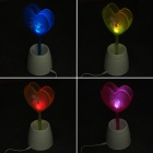 USB Powered Multicolored 1-LED Heart Lamp Pen Holder Container - Deep Pink