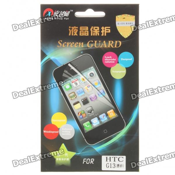 Matte Screen Protector/Guards with Cleaning Cloth for HTC G13 matte screen protector guards with cleaning cloth for htc g10