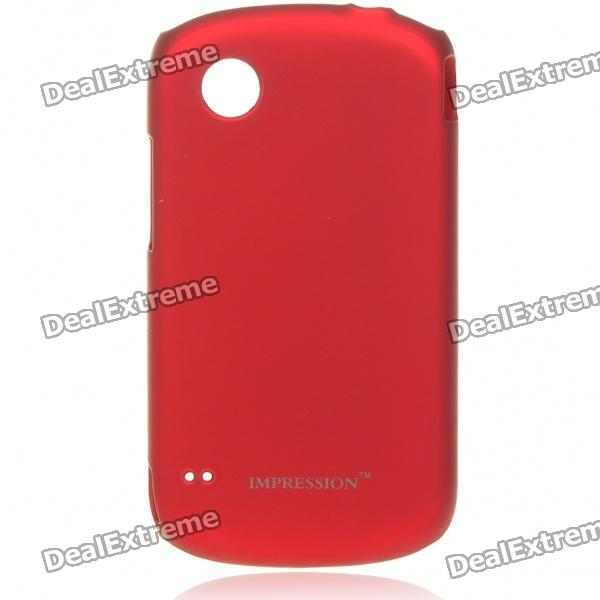 Protective PC Back Case w/ Screen Guards & Cleaning Cloth for ZTE N760 - Red