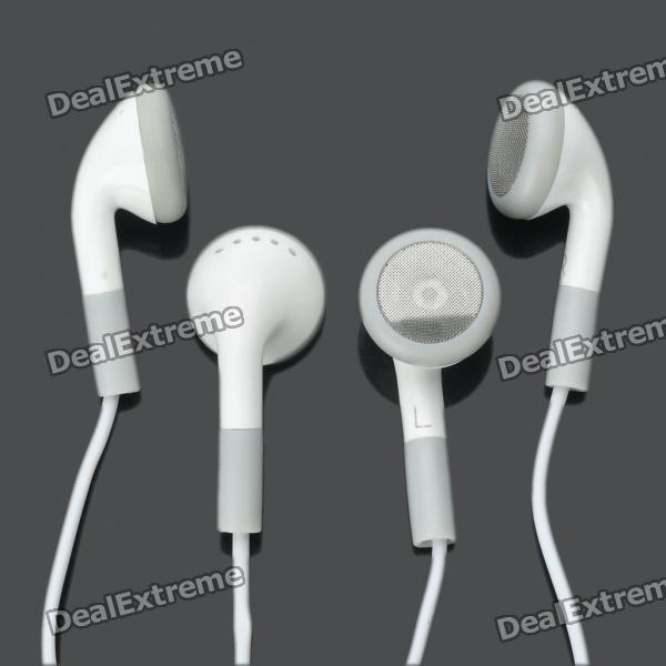 Stylish 3.5mm Jack Earphone for iPhone 4/4S - White (2-Piece Pack)