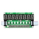 JY-MCU 8X Green Light Digital Tube + 8X Key + 8X Double Color LED Module
