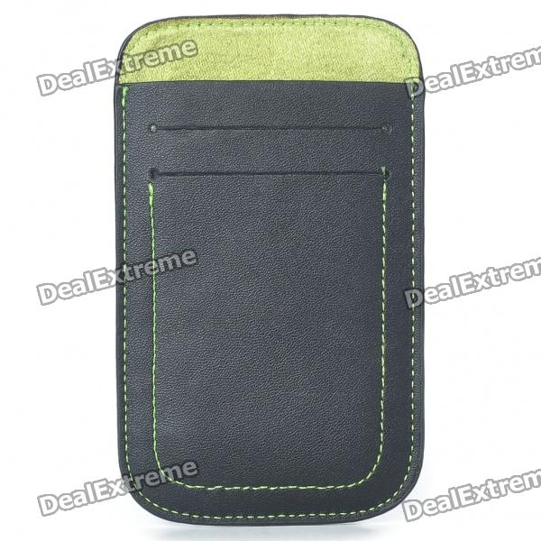 Protective Leather Case Pouch for iPhone 4/4S - Black