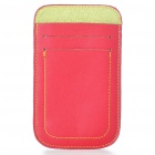Protective Leather Case Pouch for iPhone 4/4S - Red