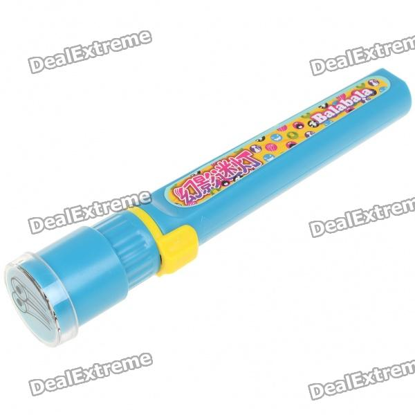 Cartoon Image Projector Flashlight with Replaceable Lens (2 x AA)