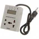 "1.6"" LCD Saving Energy Monitoring Outlet - Grey (110V 6A/US Plug)"