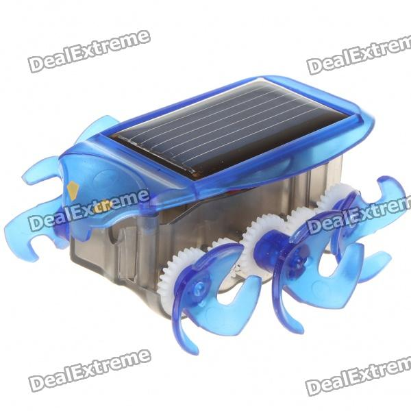 Cute Solar Powered Moving Bug Style Lunar Rover - Blue