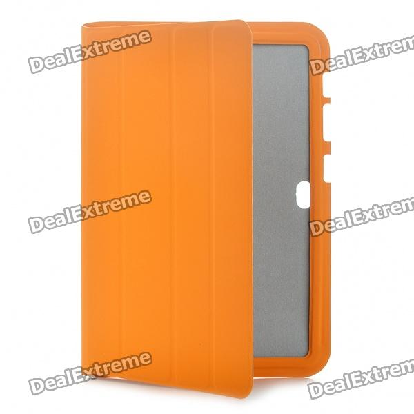 Ultra Slim Protective Leather Case for Samsung Galaxy Tab P7310/P7300 - Orange