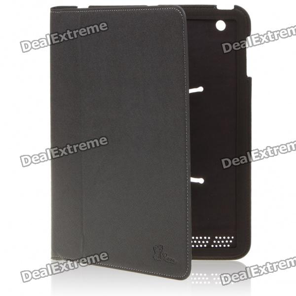 Protective PU Leather Full Case for iPad 2 - Black