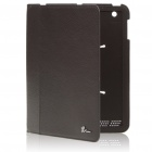 Protective Genuine Cow Leather Full Case for Ipad 2 - Black