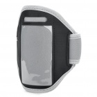 Fashion Sports Gym Arm Band Case for iPhone 4/4S - Grey + Black