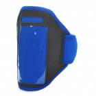 Fashion Sports Gym Arm Band Case for Iphone 4/4S - Blue + Black