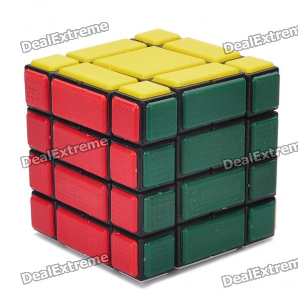 New Structure 444B334 Bandaged Magic Cube Puzzle Toy with Black Edge - 6cm