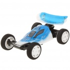 Rechargeable R/C Racing Car Toy with Remote Controller - Blue + White