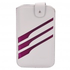 Rock Wing Series Protective Leather Case for Mobile Phone - White + Purple