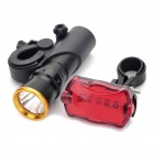 3-Mode White LED Bike Head Light + 7-Mode LED Tail Red Light w/ Mount
