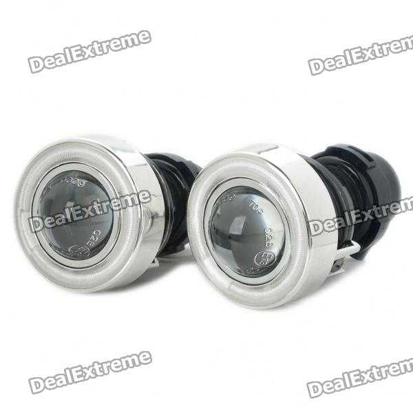 CCFL 55W Car Angel Eyes Projector Fog Lamps (Pair/12V) 55w 3000k 1100 lumen 1 led warm white car fog halogen lamps w blue light angel eyes dc 12v pair