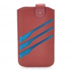 Rock Wing Series Protective Leather Case for Mobile Phone - Coffee + Blue