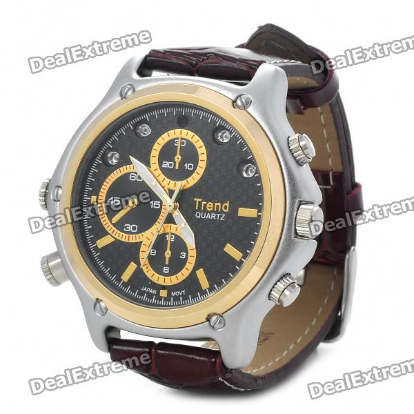 Stylish Pin-hole Spy Camera Camcorder MP3 Player Disguised as Working Wrist Watch w/ 4-Lights (4GB)