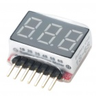 1S~6S Mini Red LED Voltage Meter