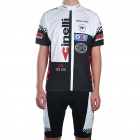 2010 Cinelli Team Short Sleeve Cycling Bicycle Bike Riding Suit Jersey + Shorts Set (Size-XXL)