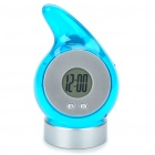 Eco-Friendly Water-Powered Clock - Translucent Blue