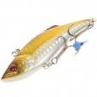 Lifelike Fish Style Fishing Bait with Treble Hooks - Golden