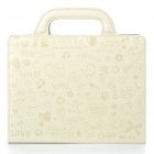 Protective PU Leather Handbag Case for iPad 2 - Beige