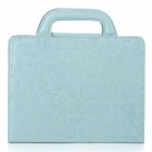 Protective PU Leather Handbag Case for iPad 2 - Blue