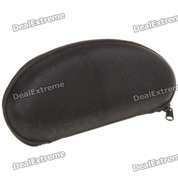 Protective Hard Zipper Case for Glasses - Black