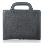 Protective PU Leather Handbag Case for iPad 2 - Black