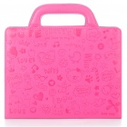 Protective PU Leather Handbag Case for iPad 2 - Deep Pink