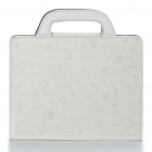 Protective PU Leather Handbag Case for iPad 2 - White