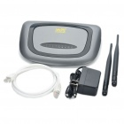 R300N 802.11b/g/n 300Mbps WiFi Wireless Router w/ Dual 6dBi Antenna - Gray