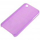 Mesh Protective PC Back Case for iPhone 4/4S - Purple